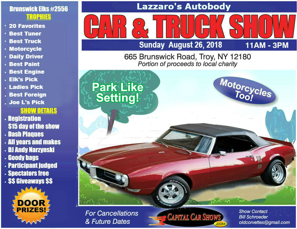 Brunswick Elks Car Show - Car show giveaways